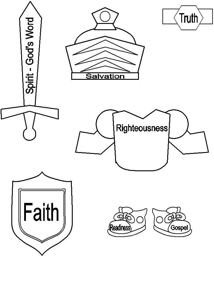 armor of god coloring pages -