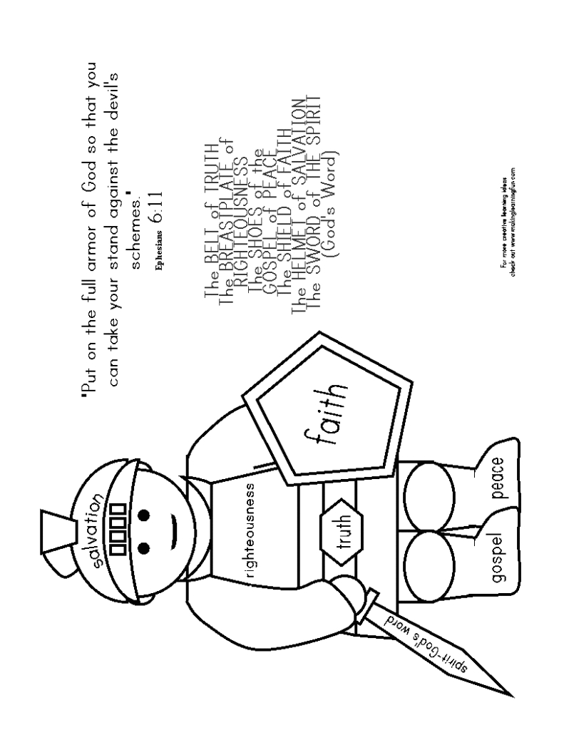 24 Armor Of God Coloring Pages Collections | FREE COLORING PAGES ...