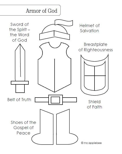 armor of god coloring pages - Armor of God Coloring Page