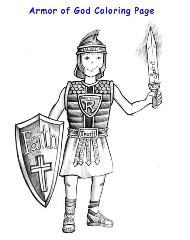 armor of god coloring pages - god is all powerfularmor of god coloring page
