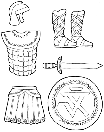 photo regarding Free Printable Pictures of the Armor of God named Armor Of God Clipart Black And White