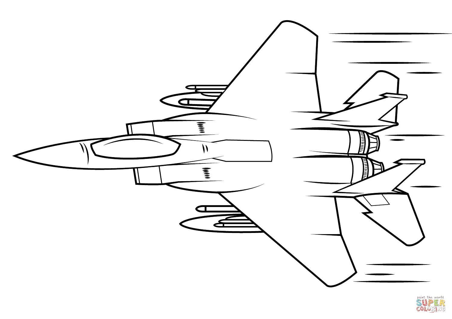 army men coloring pages - f 15 iguru