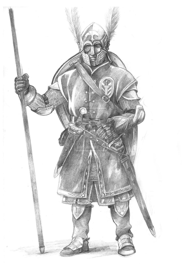 army men coloring pages - Sol r of Gondor