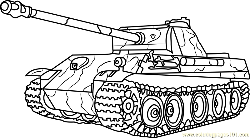 army tank coloring pages - german panther army tank coloring page