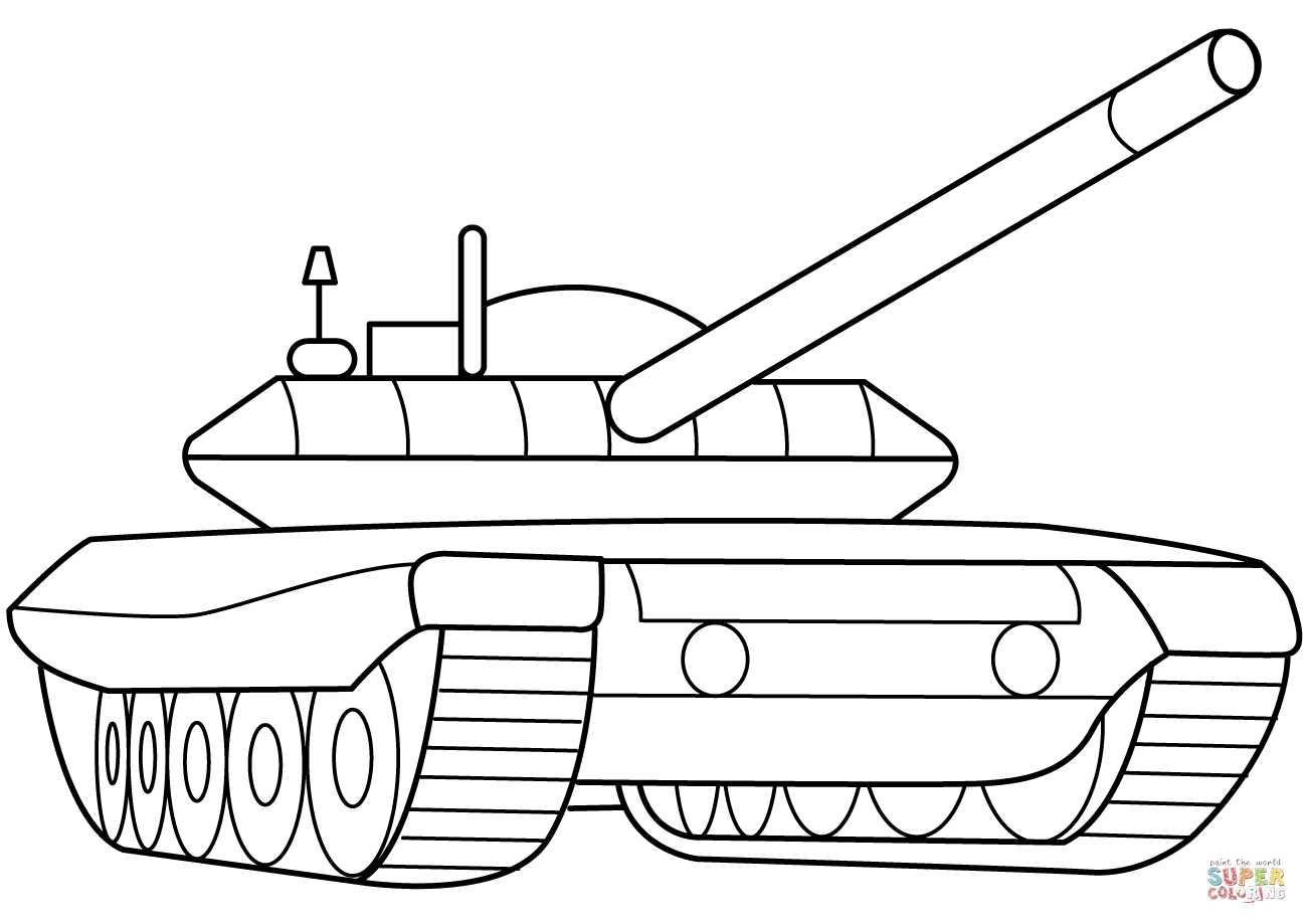 army tank coloring pages - military armored tank