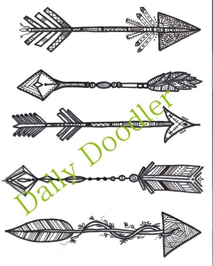 arrow coloring pages -