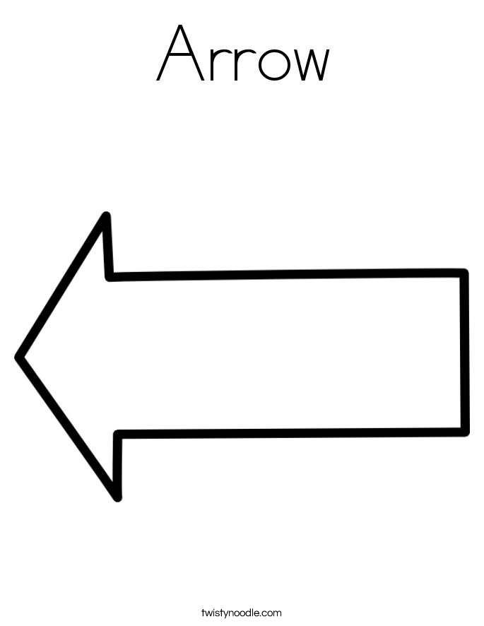 arrow coloring pages - arrow coloring page