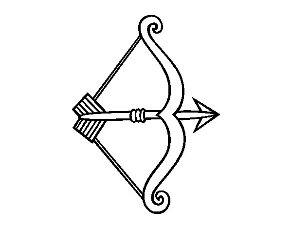 arrow coloring pages - arrow with bow