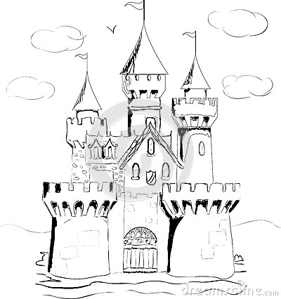 arthur coloring pages - stock photo color book palace fairy tale castle image