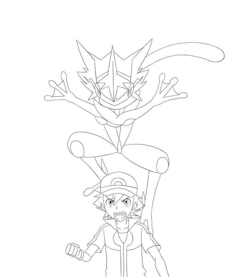 27 Ash Greninja Coloring Pages Collections Free Coloring Pages