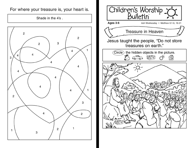 ash wednesday coloring pages - childrens church lessons for special days youth