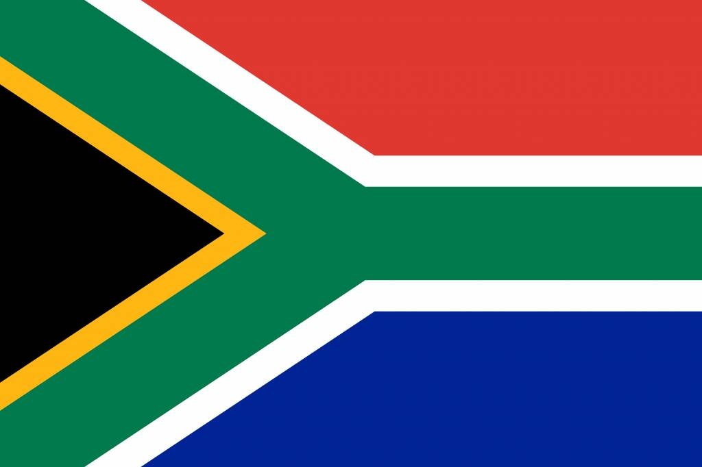 asia coloring page - south africa flag vector