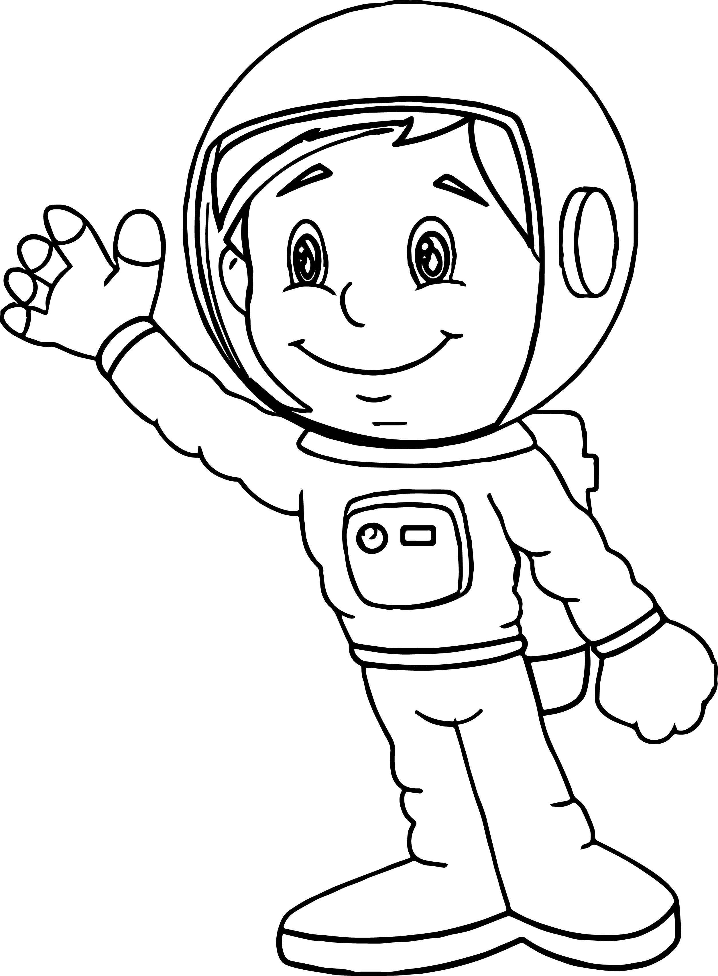 astronaut coloring pages - astronaut boy coloring page