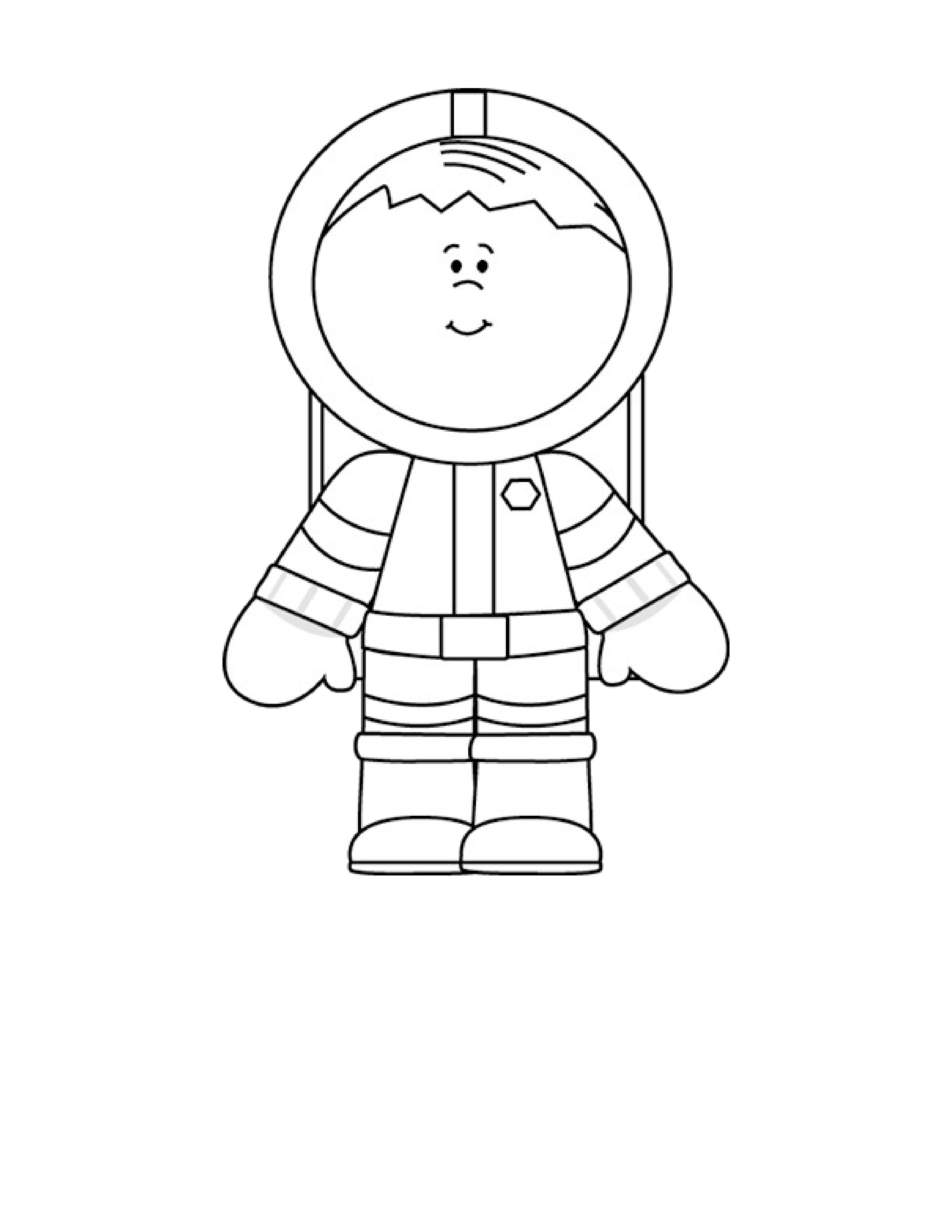 astronaut coloring pages - astronaut coloring pages 5