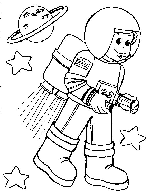 astronaut coloring pages -