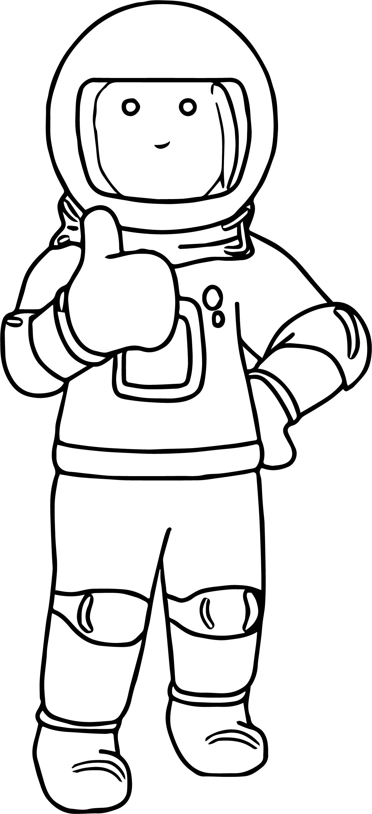astronaut coloring pages - astronaut right coloring page