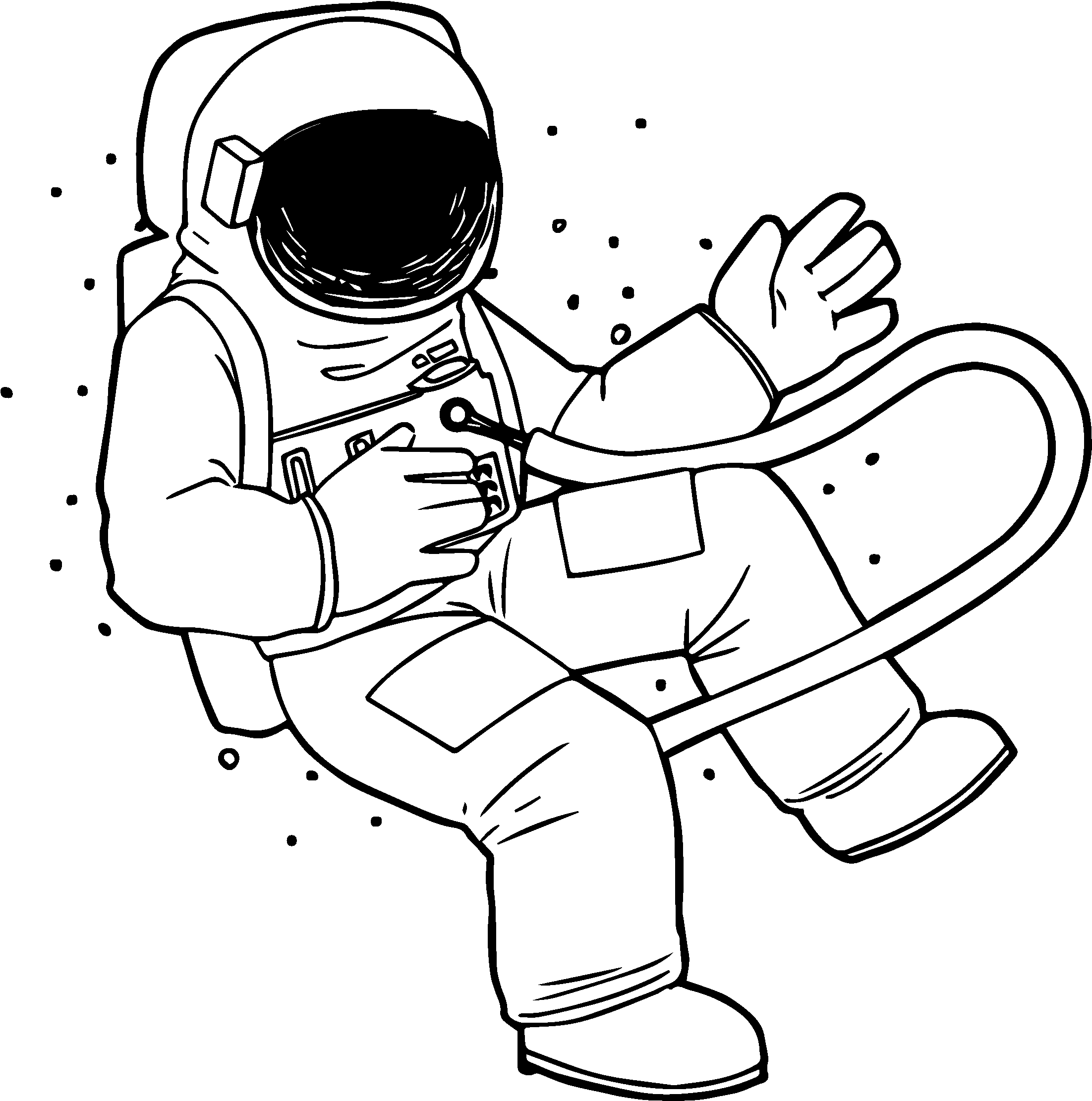 astronaut coloring pages - astronaut space fly coloring page