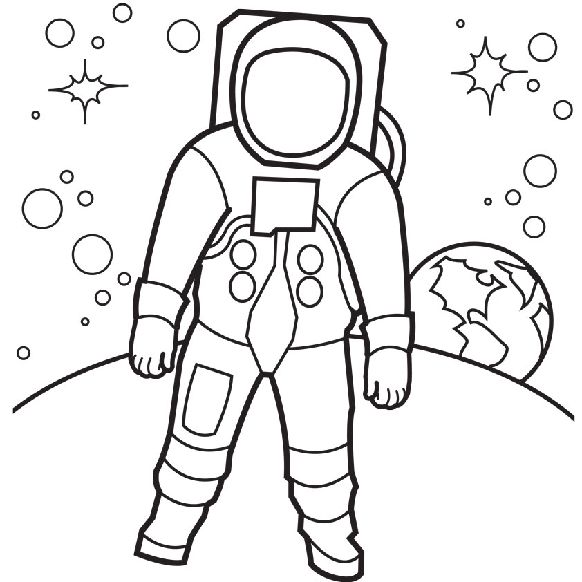 astronaut coloring pages - astronaut coloring pages