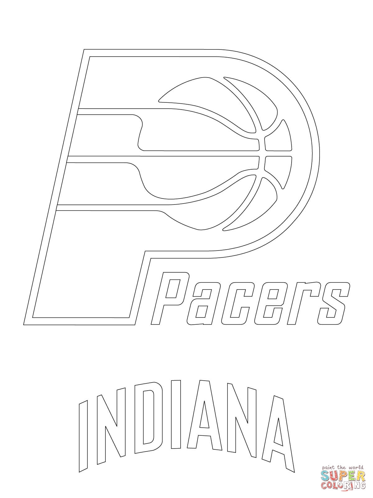 atlanta falcons coloring pages - indiana pacers logo