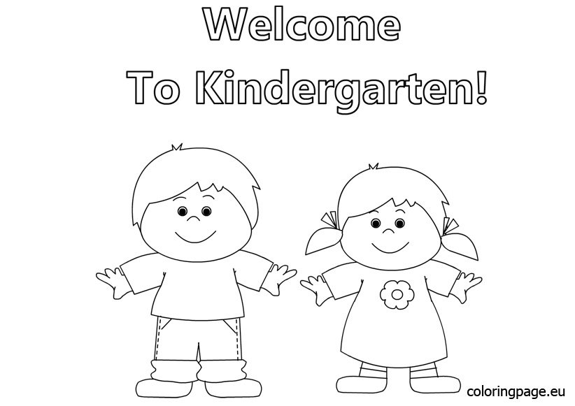 august coloring pages - coloring pages to wel e to kindergarten coloring