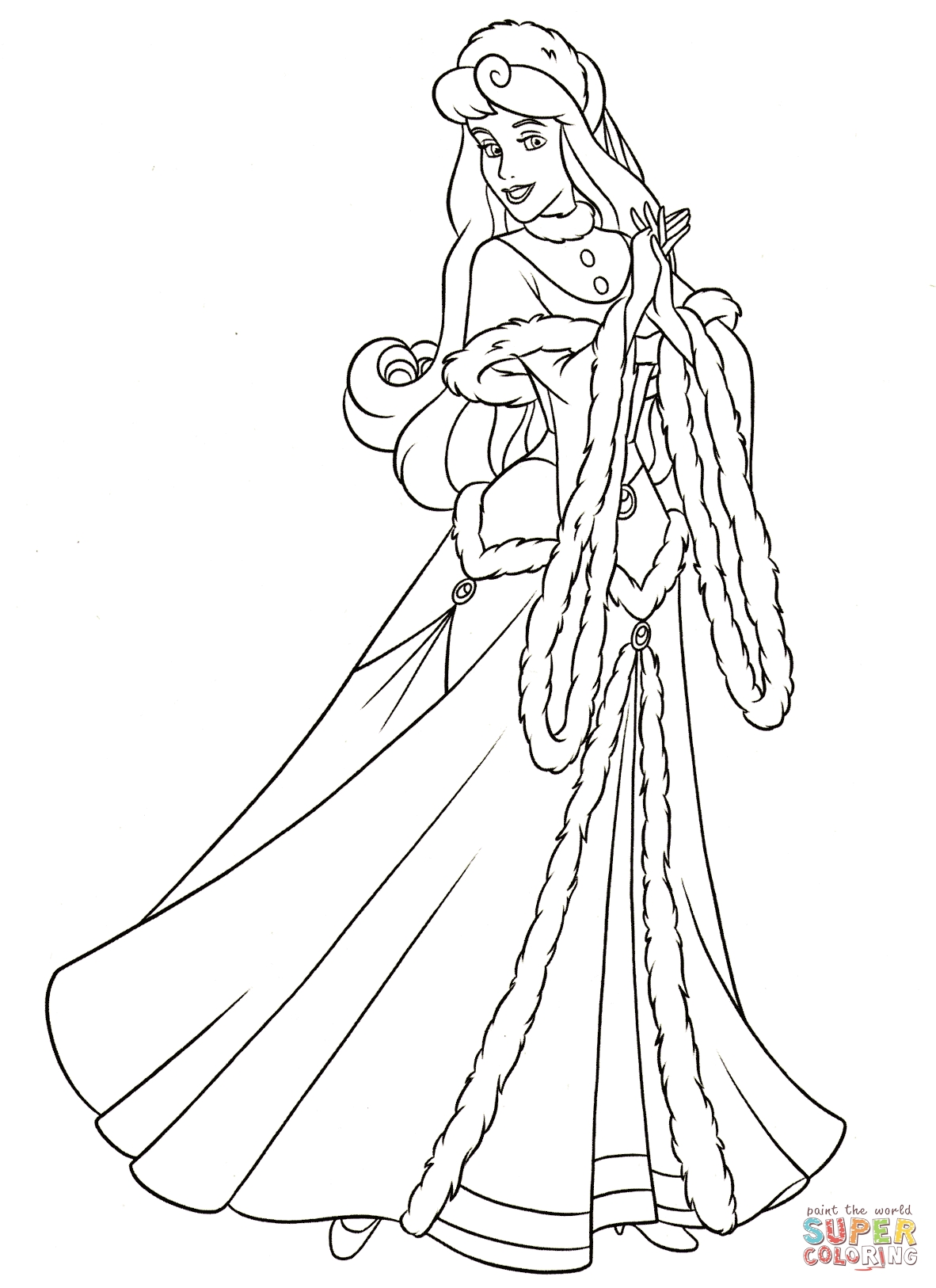 aurora coloring pages - aurora