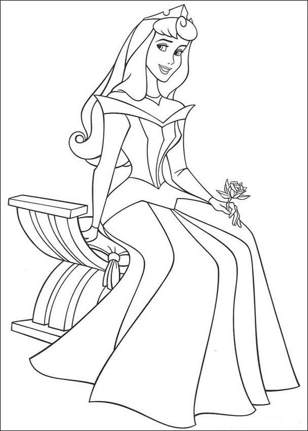 aurora coloring pages - princess aurora coloring pages