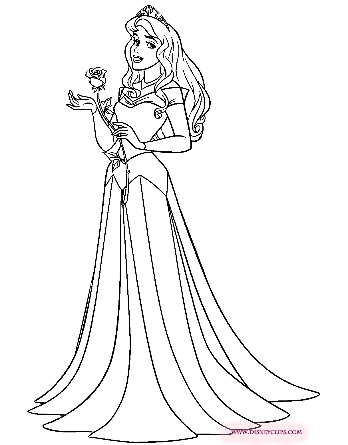 aurora coloring pages - sleepingbeautycoloring3