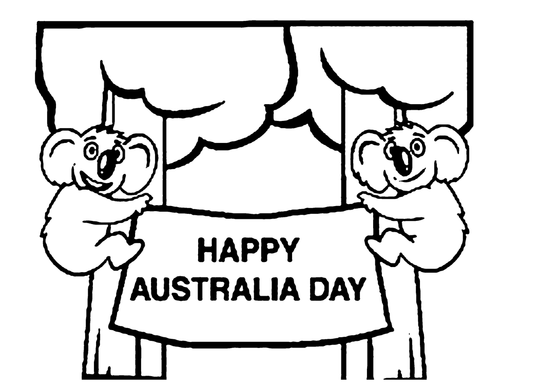 australia coloring pages - australia coloring page