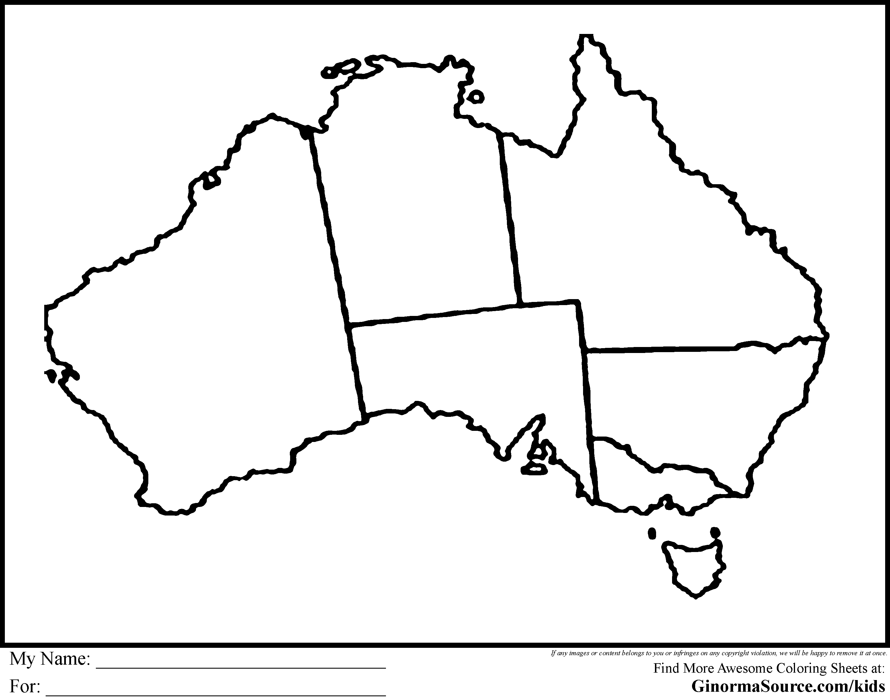 australia coloring pages -