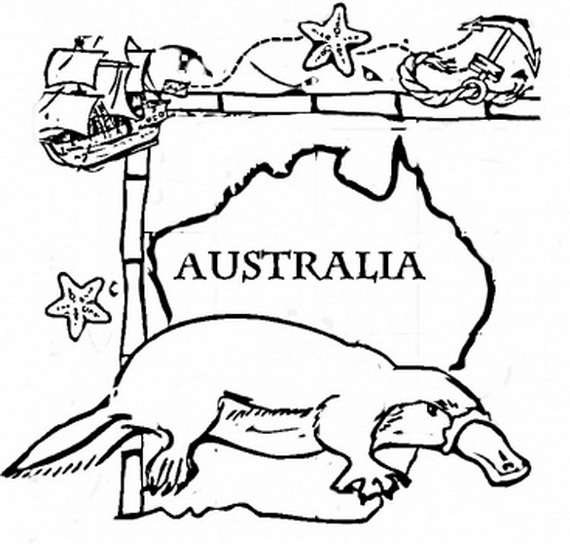 australia coloring pages - outback australian animals coloring pages sketch templates