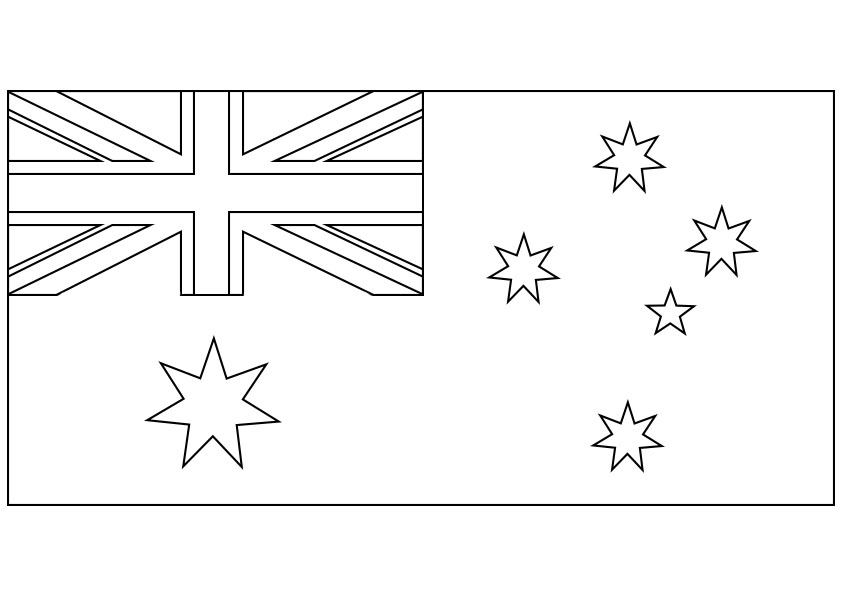 australia flag coloring page - post australia flag coloring page printable