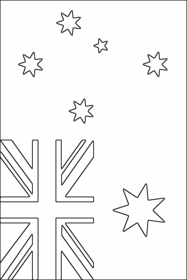 australia flag coloring page - australian flag coloring page