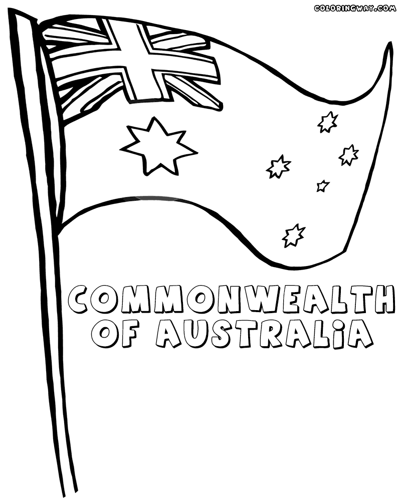 australia flag coloring page - australian flag coloring pages