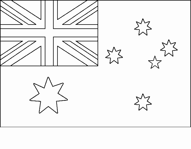 Australia Flag Coloring Page - Flag Australia Free Printable Flags Of the World Coloring