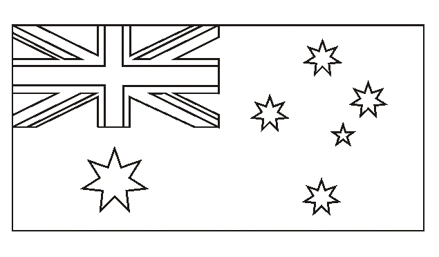 australia flag coloring page - national flag of australia to color