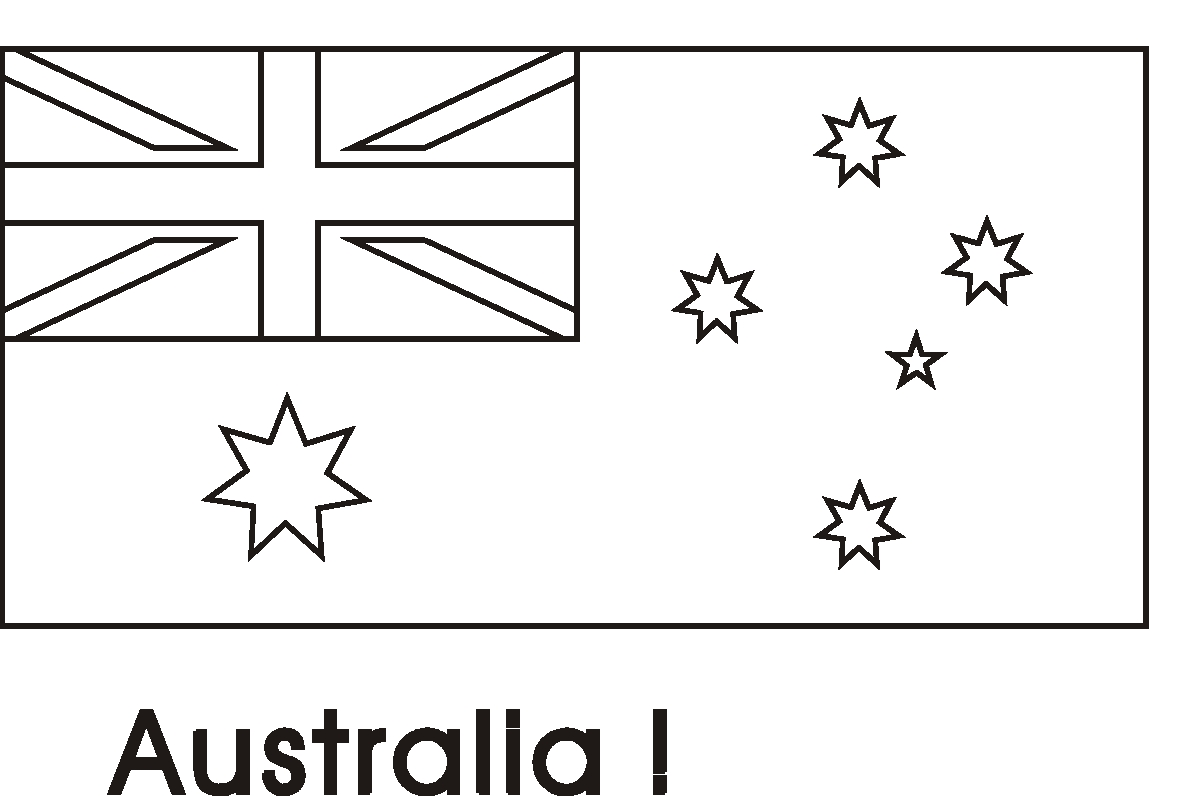 australia flag coloring page - printable coloring flags australia sketch templates