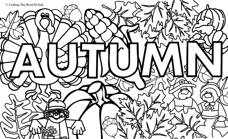 autumn coloring pages - autumn coloring page 1 coloring page