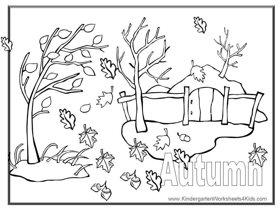 Autumn Coloring Pages - Autumn Coloring Pages