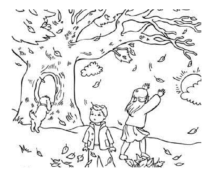 autumn coloring pages - autumn season coloring pages
