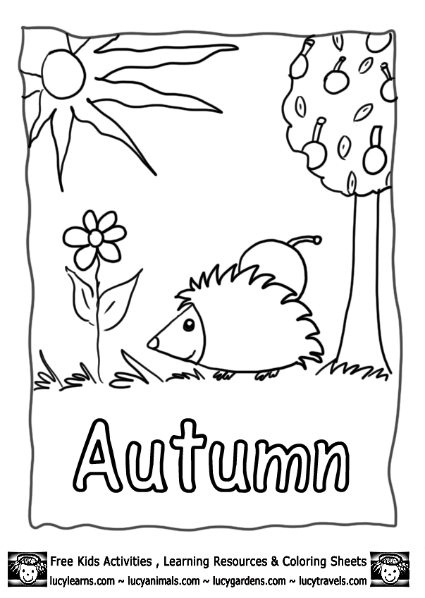 autumn coloring pages - printable autumn coloring pages