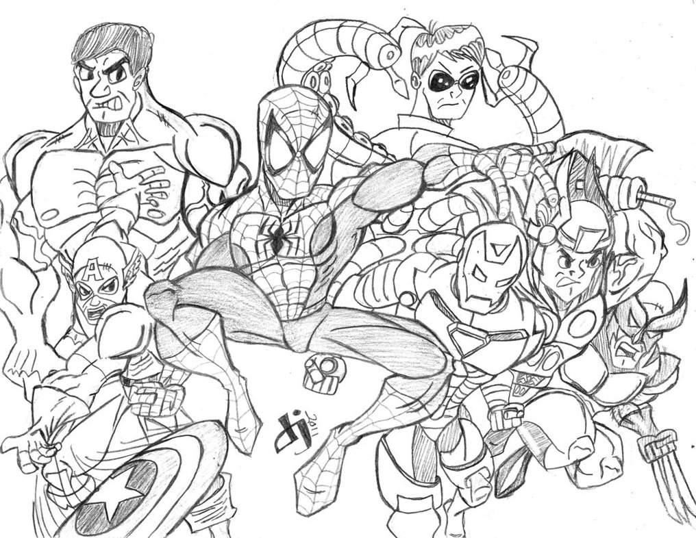 avengers coloring pages - marvel avengers coloring pages