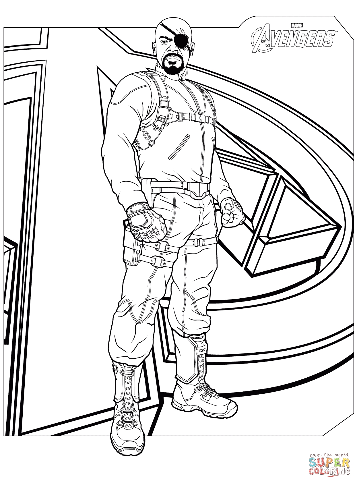 avengers coloring pages - avengers nick fury