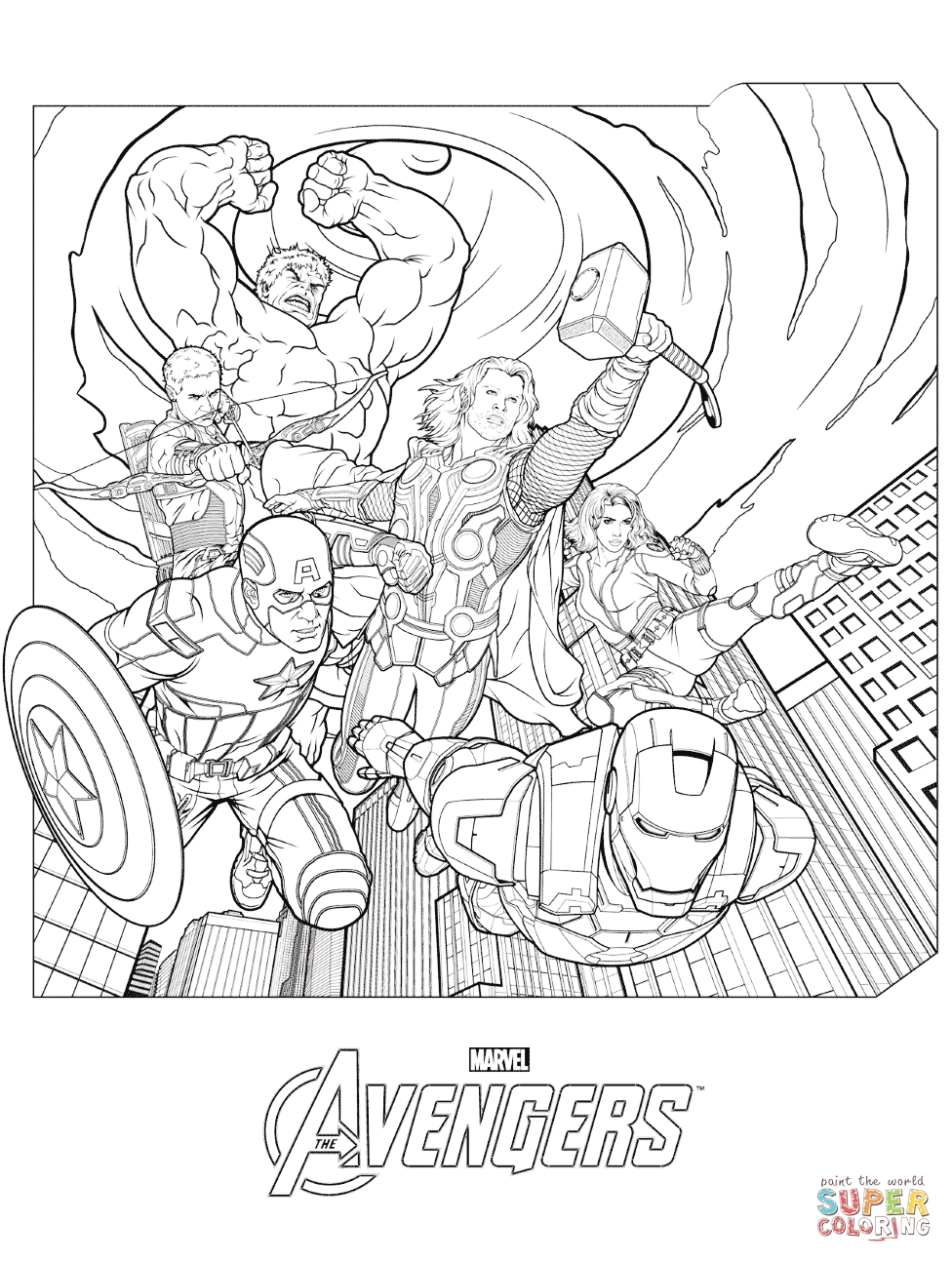 avengers coloring pages - marvel avengers