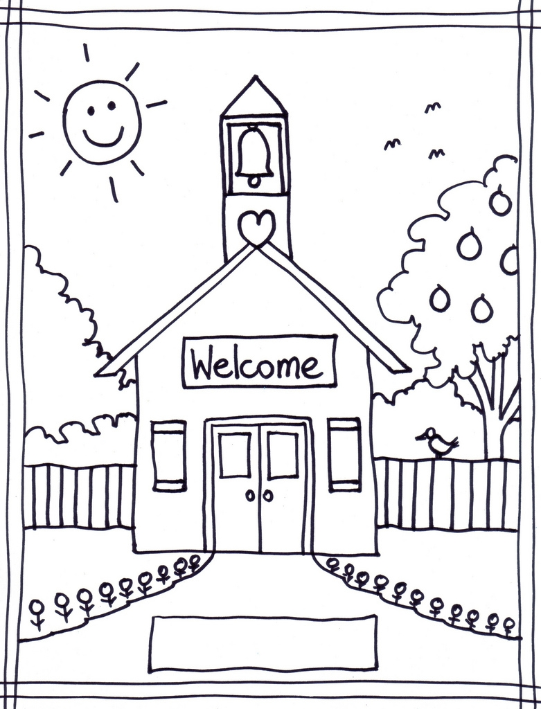 Az Coloring Pages - Schoolhouse Printable Coloring Page Az Coloring Pages