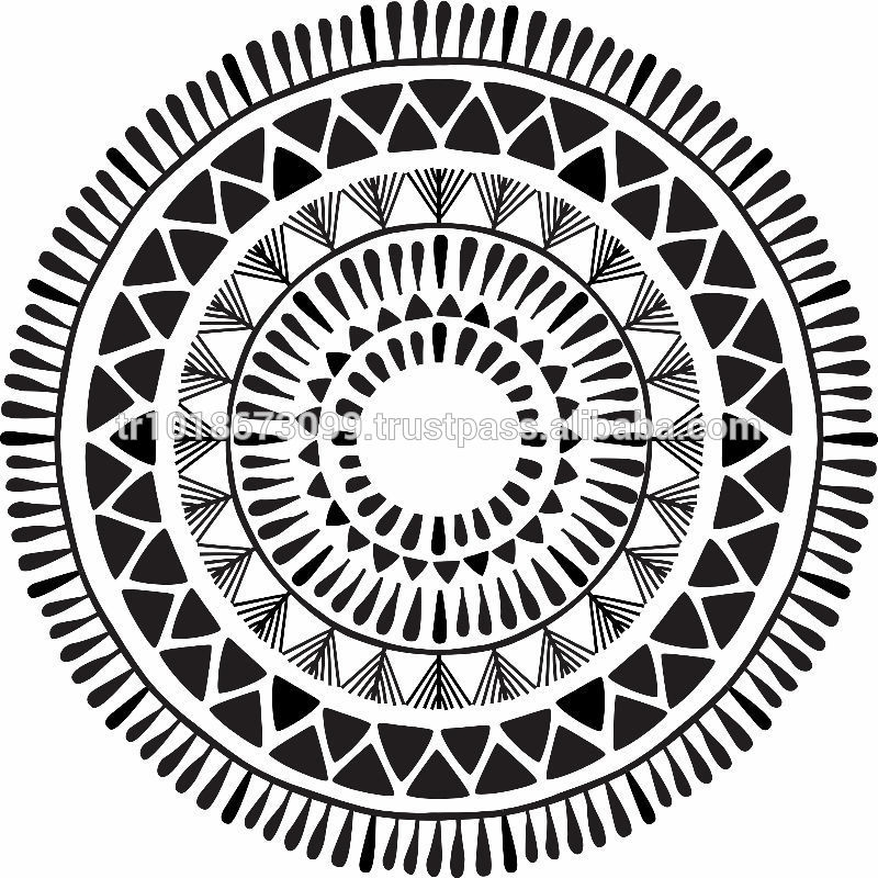 aztec coloring pages - Aztec pattern Round beach towel with