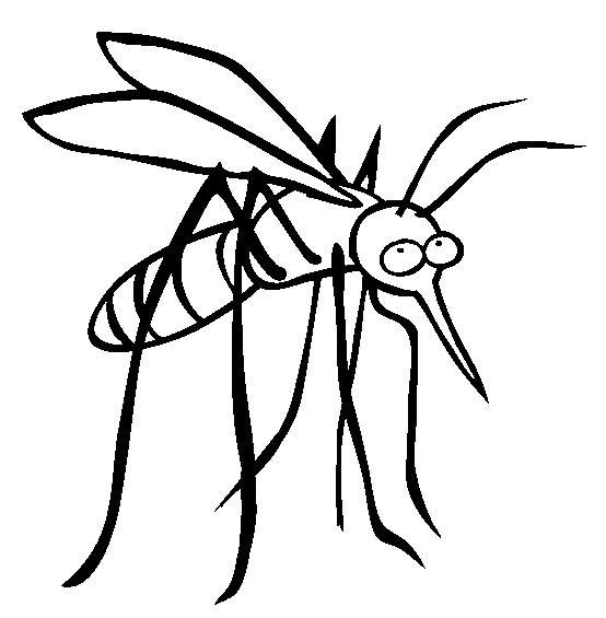 b coloring page - mosquito coloring 06