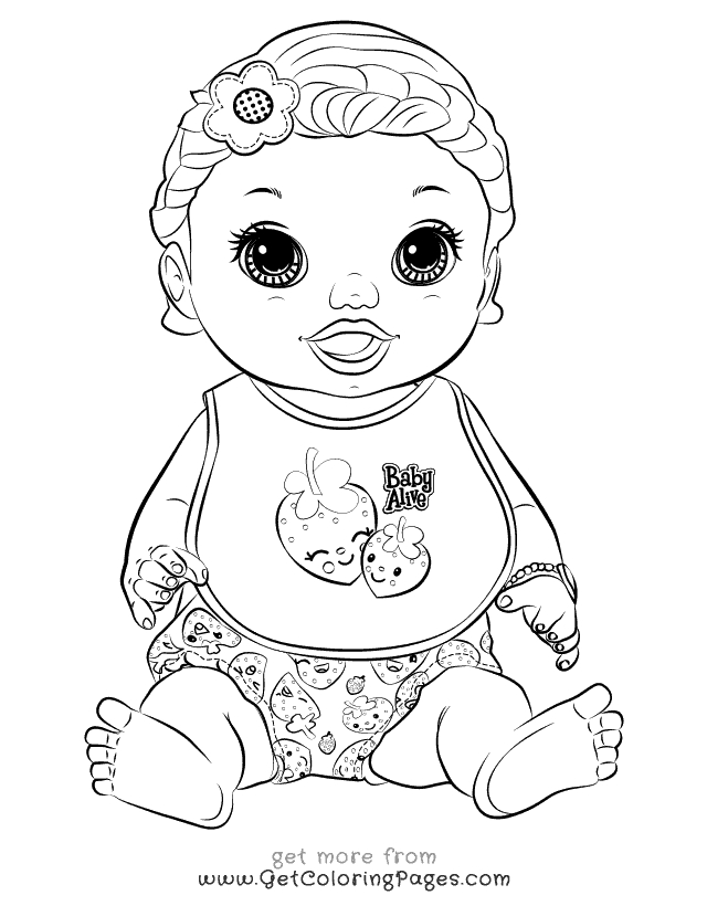 Baby Alive Coloring Pages - Baby Alive Food Packets Coloring Page Coloring Pages