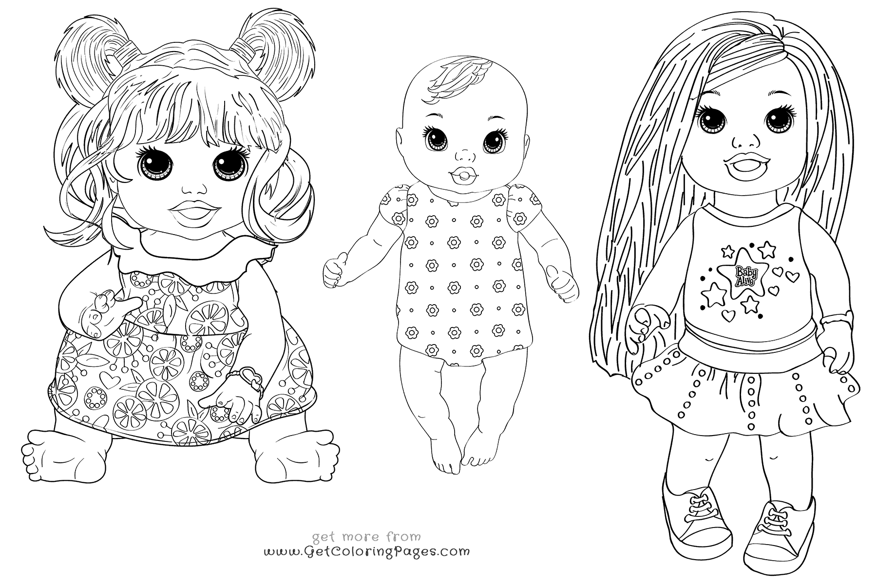 baby alive coloring pages - baby alive food packets coloring pages printable sketch templates