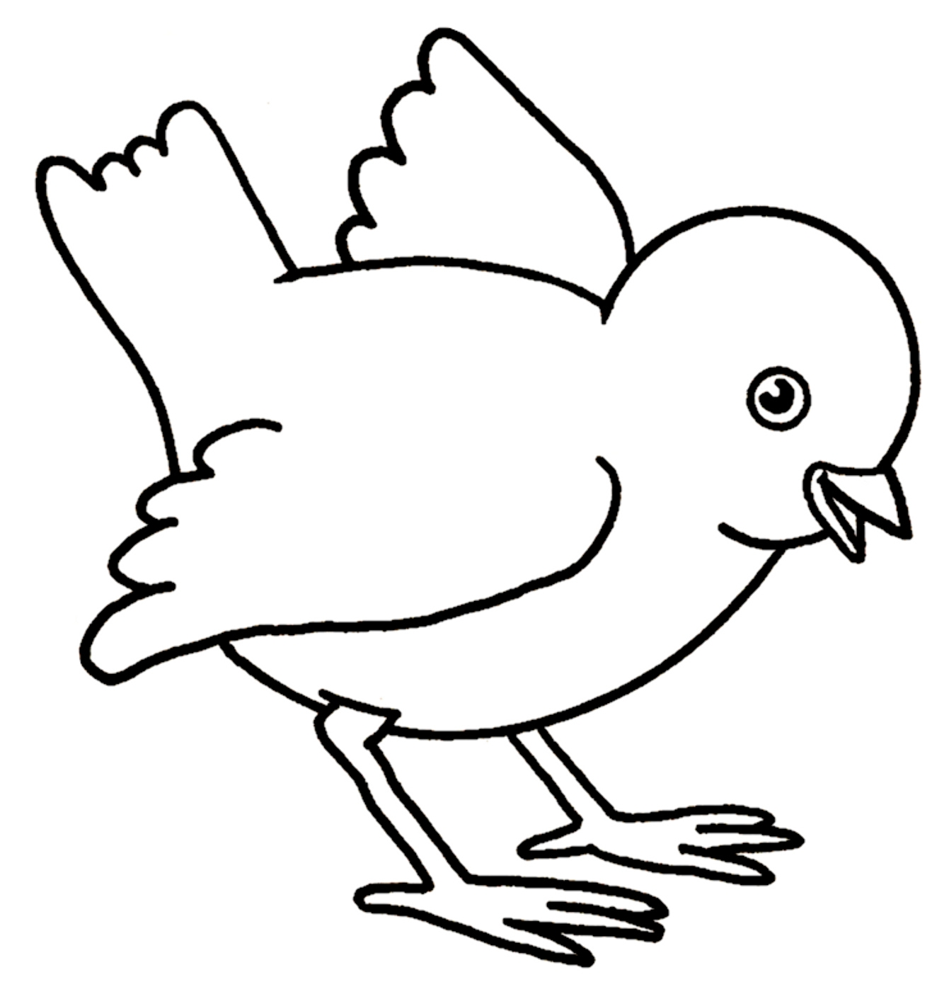 baby chick coloring pages - baby chick coloring pages