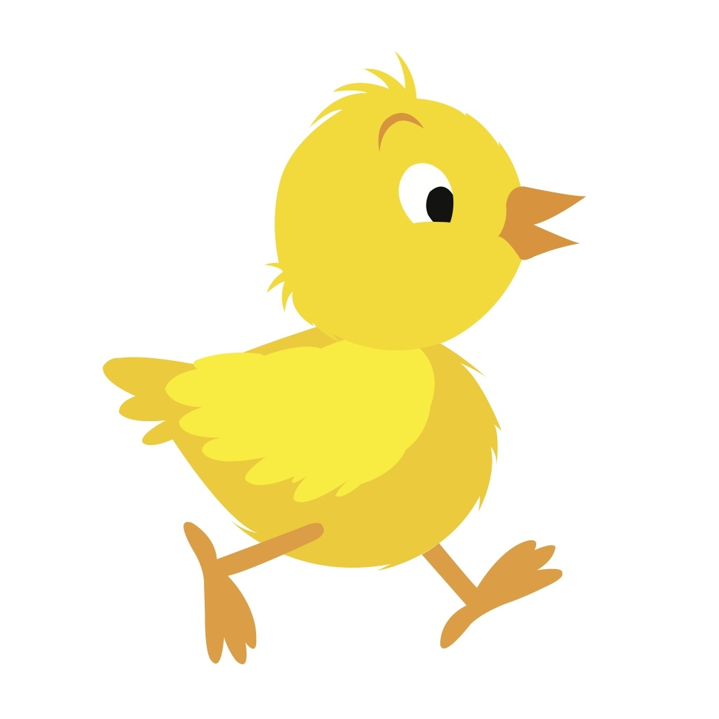baby chick coloring pages - baby chicken cartoon